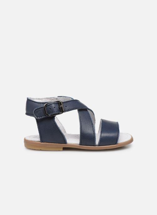 Sandales et nu-pieds Little Mary Georges Bleu vue derrière