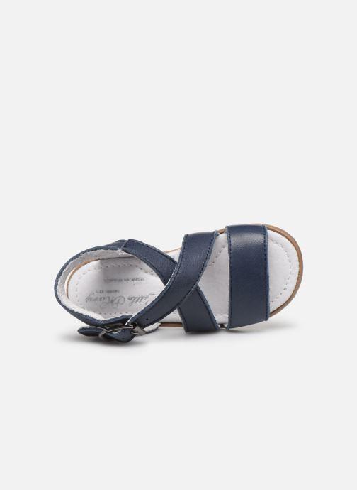 Sandales et nu-pieds Little Mary Georges Bleu vue gauche