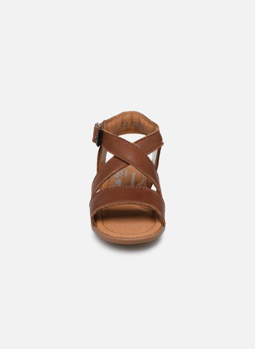 Sandales et nu-pieds Little Mary Georges Marron vue portées chaussures
