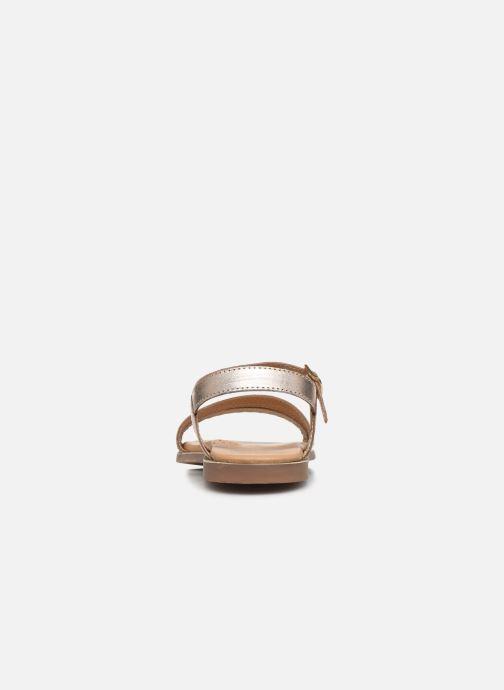 Sandales et nu-pieds Little Mary Lime Or et bronze vue droite