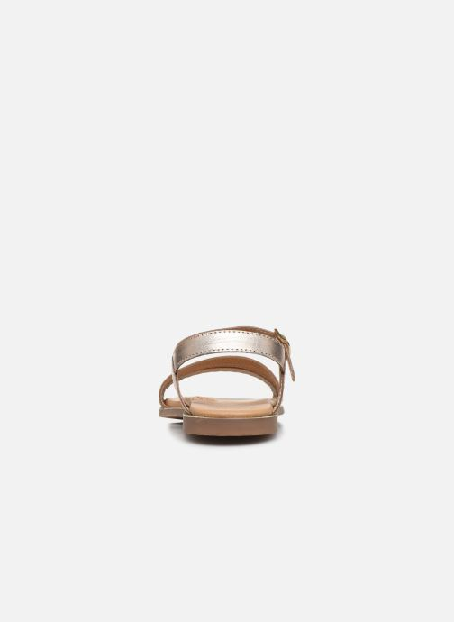Sandalias Little Mary Lime Oro y bronce vista lateral derecha