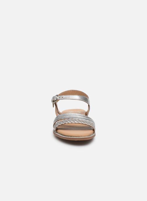 Sandali e scarpe aperte Little Mary Lime Argento modello indossato