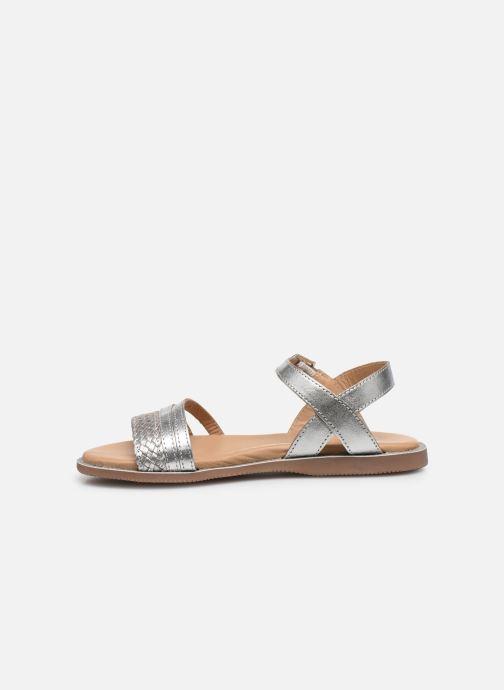 Sandales et nu-pieds Little Mary Lime Argent vue face