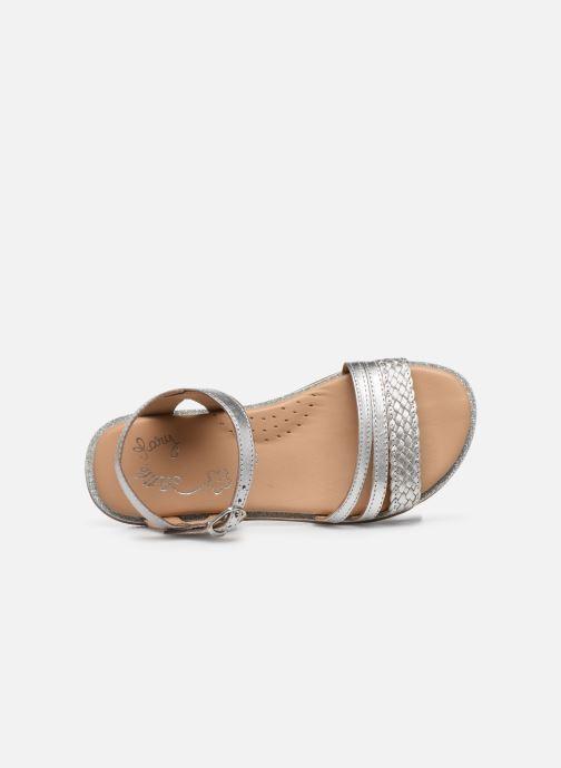 Sandales et nu-pieds Little Mary Lime Argent vue gauche