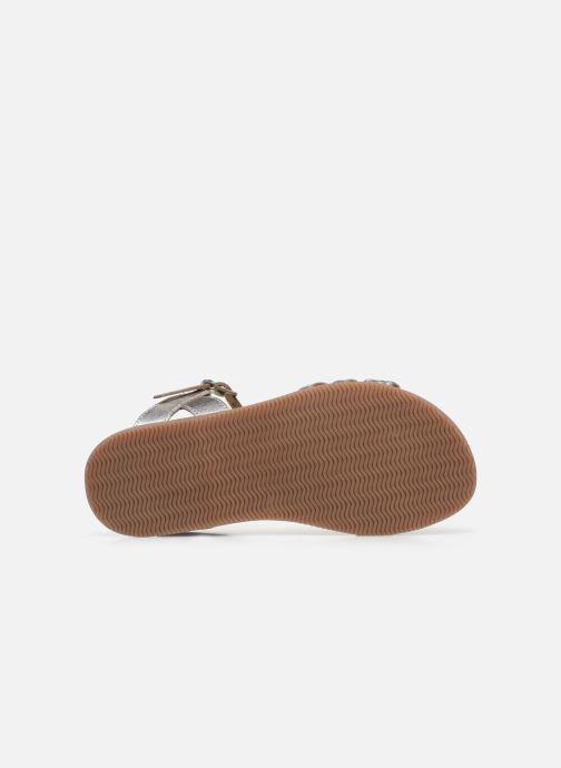 Sandales et nu-pieds Little Mary Lime Argent vue haut