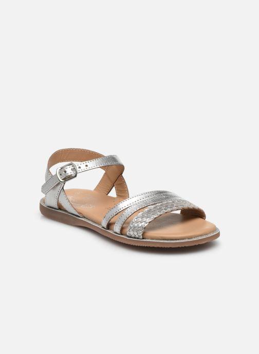 Sandales et nu-pieds Little Mary Lime Argent vue détail/paire