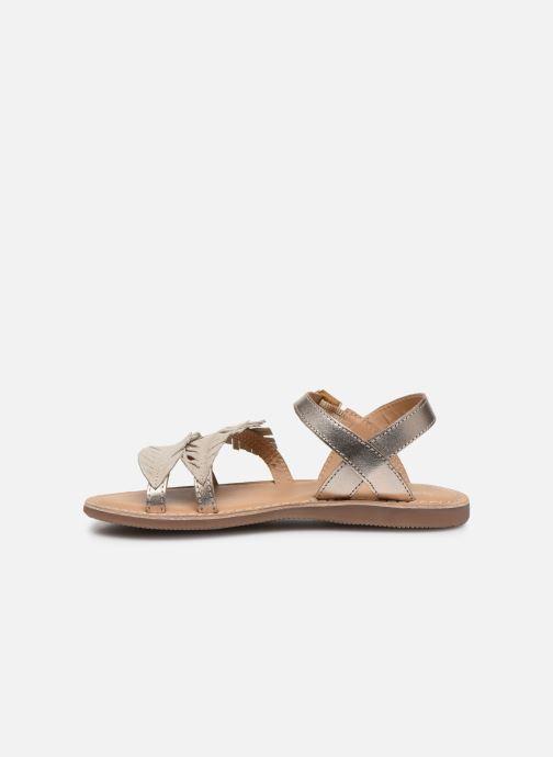 Sandales et nu-pieds Little Mary Lorette Or et bronze vue face