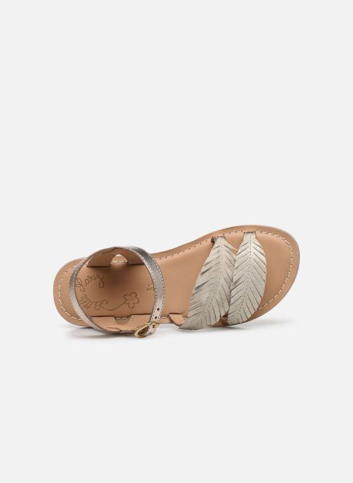 Sandales et nu-pieds Little Mary Lorette Or et bronze vue gauche