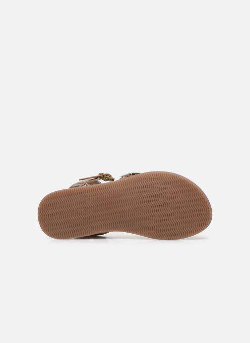 Sandales et nu-pieds Little Mary Lorette Or et bronze vue haut