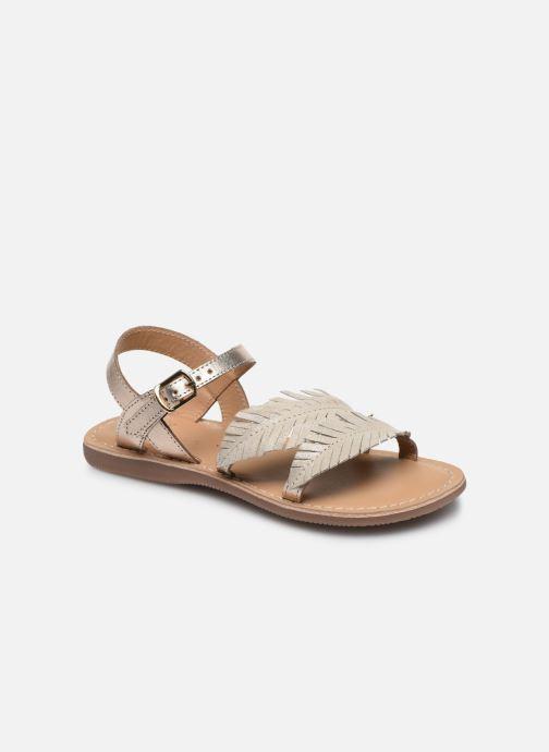 Sandales et nu-pieds Little Mary Lorette Or et bronze vue détail/paire