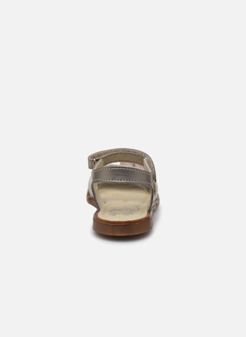 Sandales et nu-pieds Little Mary Lilyrose Or et bronze vue droite