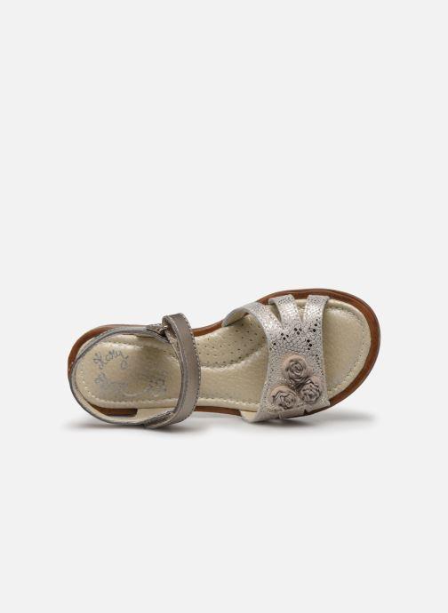 Sandales et nu-pieds Little Mary Lilyrose Or et bronze vue gauche