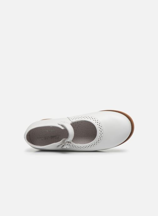 Ballerines Little Mary Leslie Blanc vue gauche