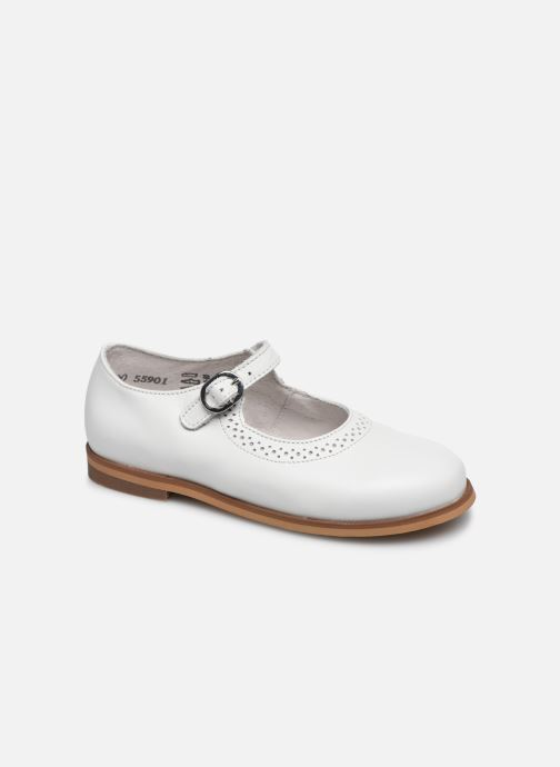 Ballerines Little Mary Leslie Blanc vue détail/paire