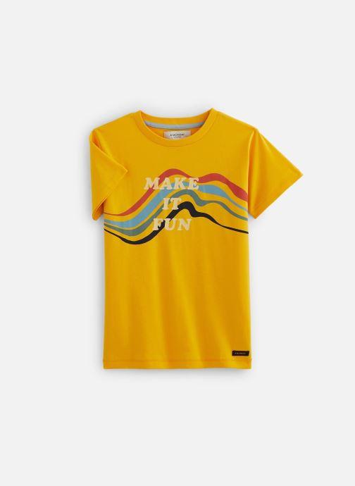 Vêtements A Monday In Copenhagen  Fun T-shirt Jaune vue détail/paire