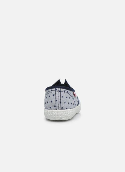 Baskets Cienta Eléonore Gris vue droite