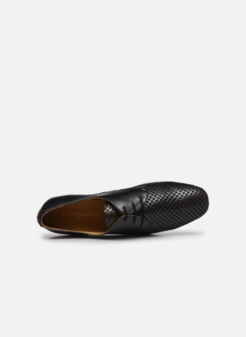 Zapatos con cordones Georgia Rose Apira Negro vista lateral izquierda