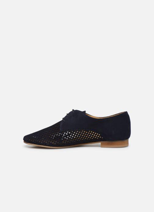 Zapatos con cordones Georgia Rose Apira Azul vista de frente