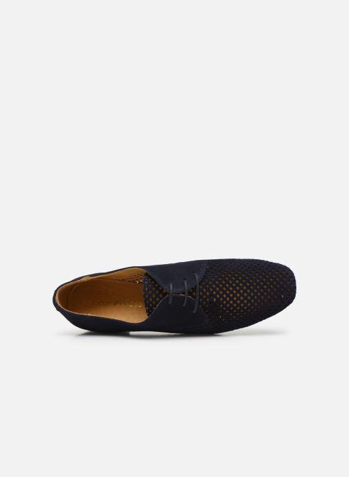 Zapatos con cordones Georgia Rose Apira Azul vista lateral izquierda