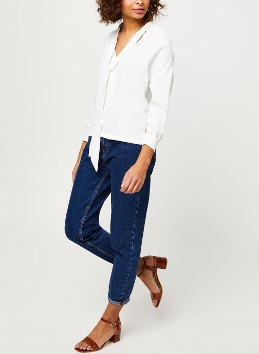 Vêtements Frnch F9918 Blanc vue bas / vue portée sac