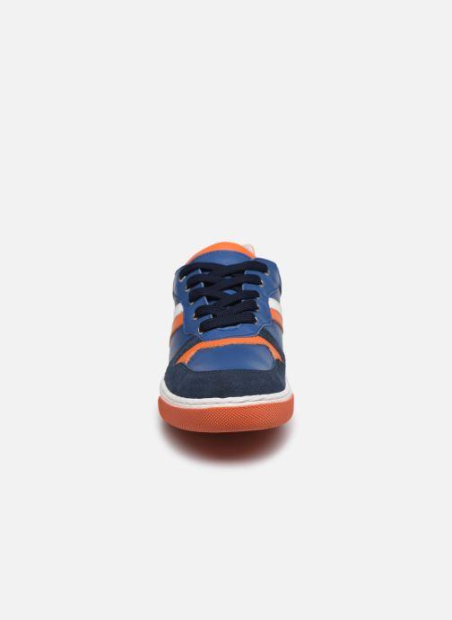 Baskets I Love Shoes SOLEIL LEATHER Bleu vue portées chaussures