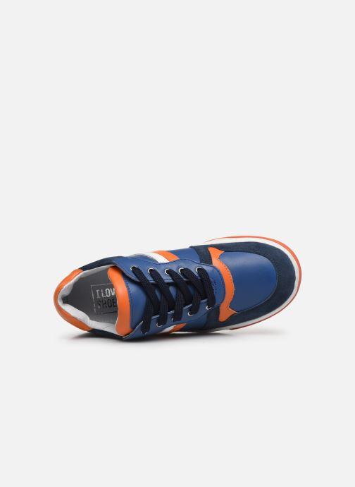 Deportivas I Love Shoes SOLEIL LEATHER Azul vista lateral izquierda