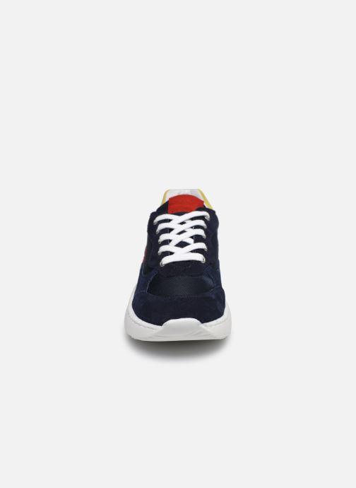 Baskets I Love Shoes SOLUNE LEATHER Bleu vue portées chaussures