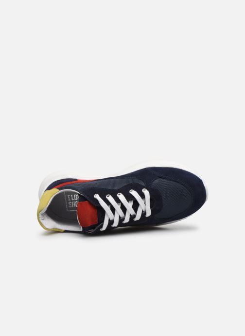 Deportivas I Love Shoes SOLUNE LEATHER Azul vista lateral izquierda