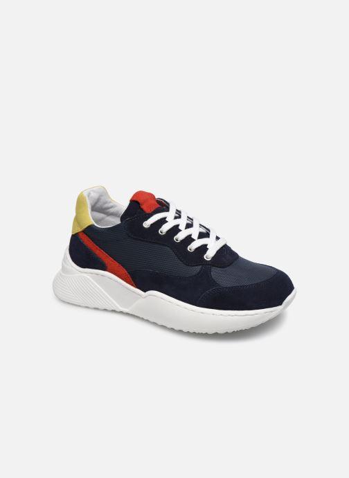 Baskets I Love Shoes SOLUNE LEATHER Bleu vue détail/paire
