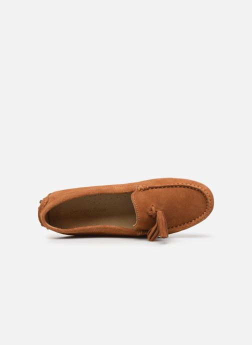 Mocassins Georgia Rose Stopompon Marron vue gauche