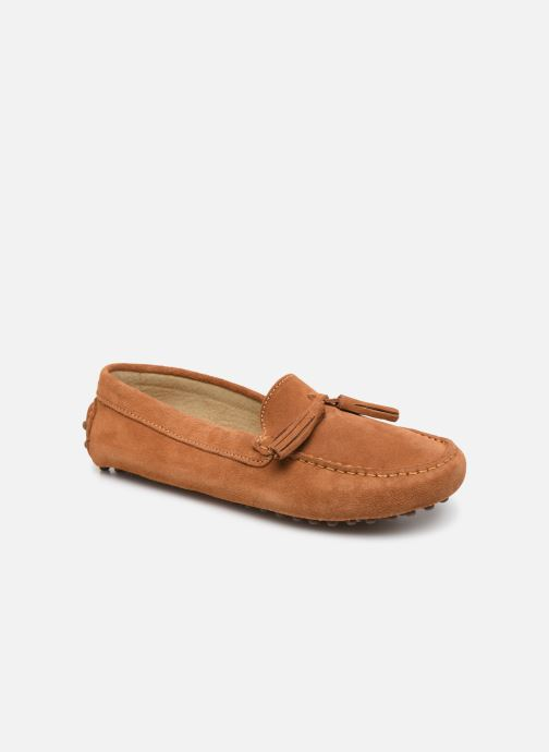 Mocassins Georgia Rose Stopompon Marron vue détail/paire