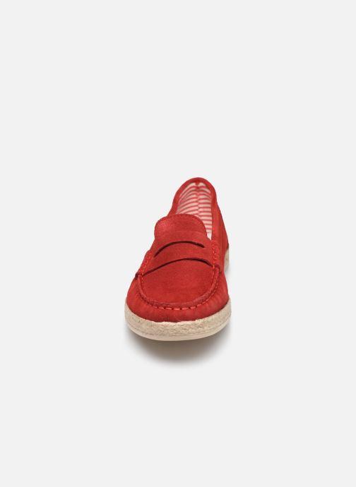 Mocassins Georgia Rose Spadrillo Rouge vue portées chaussures