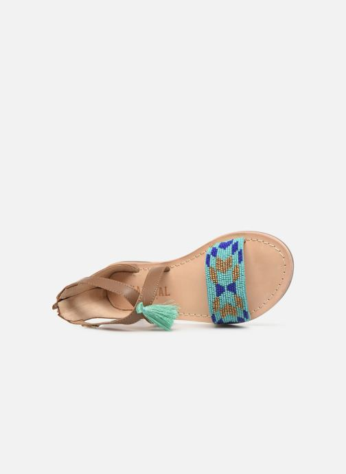 Sandales et nu-pieds Kaporal Noona Marron vue gauche