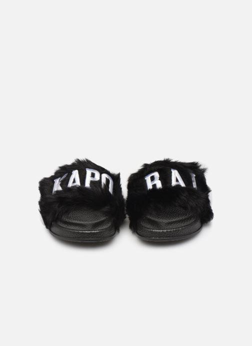 Mules et sabots Kaporal Suede Noir vue portées chaussures