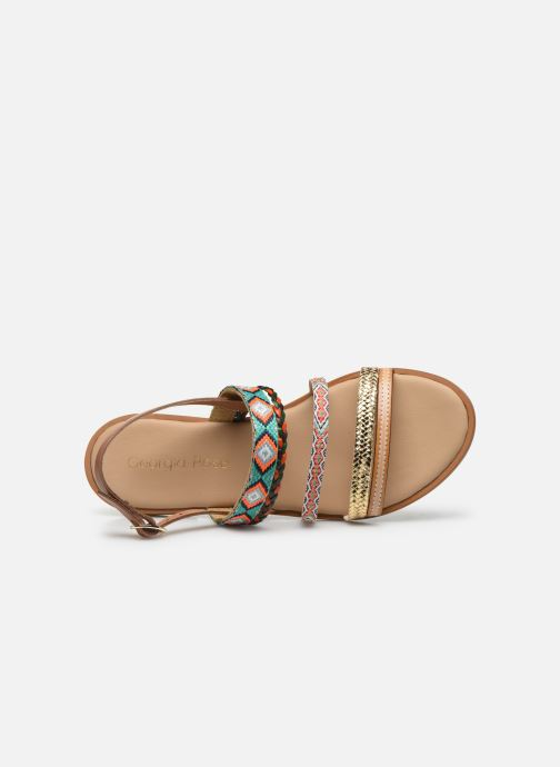 Sandales et nu-pieds Georgia Rose Dowip Vert vue gauche