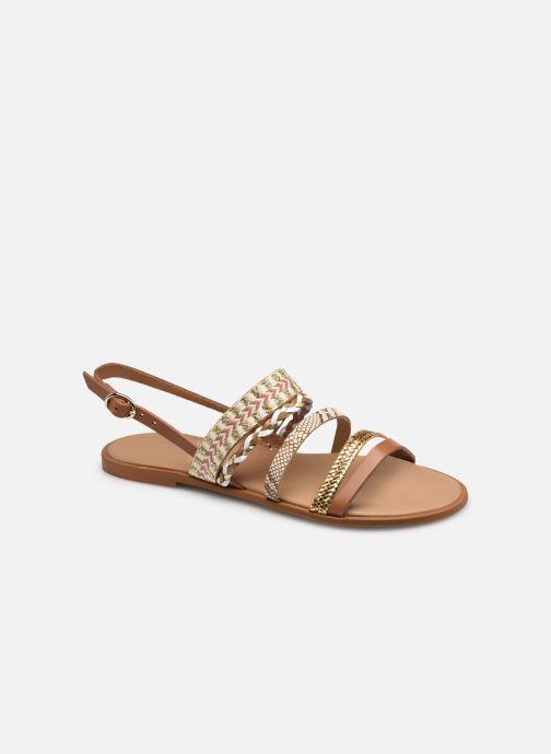 Sandales et nu-pieds Georgia Rose Dowip Marron vue détail/paire