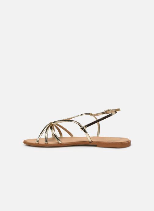 Sandales et nu-pieds Georgia Rose Dopini Or et bronze vue face