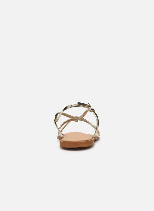 Sandales et nu-pieds Georgia Rose Dopini Or et bronze vue droite