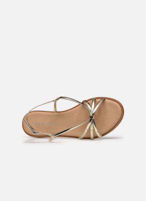 Sandales et nu-pieds Georgia Rose Dopini Or et bronze vue gauche