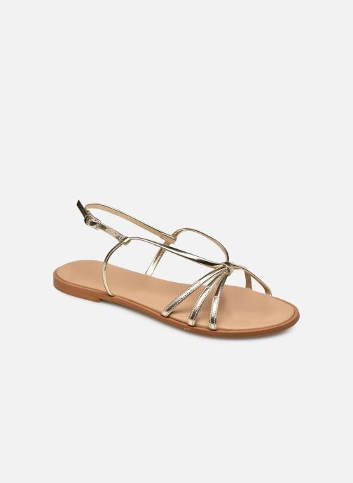 Sandales et nu-pieds Georgia Rose Dopini Or et bronze vue détail/paire