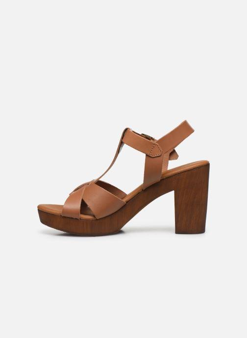 Sandales et nu-pieds Georgia Rose Dopatin Marron vue face
