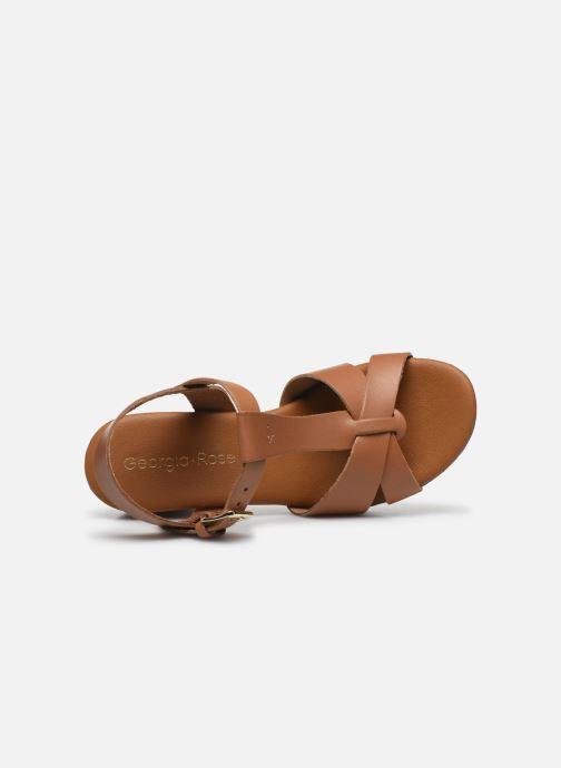 Sandales et nu-pieds Georgia Rose Dopatin Marron vue gauche