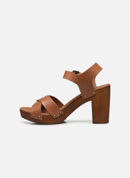 Sandales et nu-pieds Georgia Rose Dopiti Marron vue face