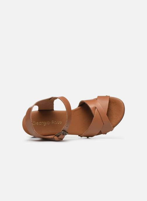 Sandales et nu-pieds Georgia Rose Dopiti Marron vue gauche