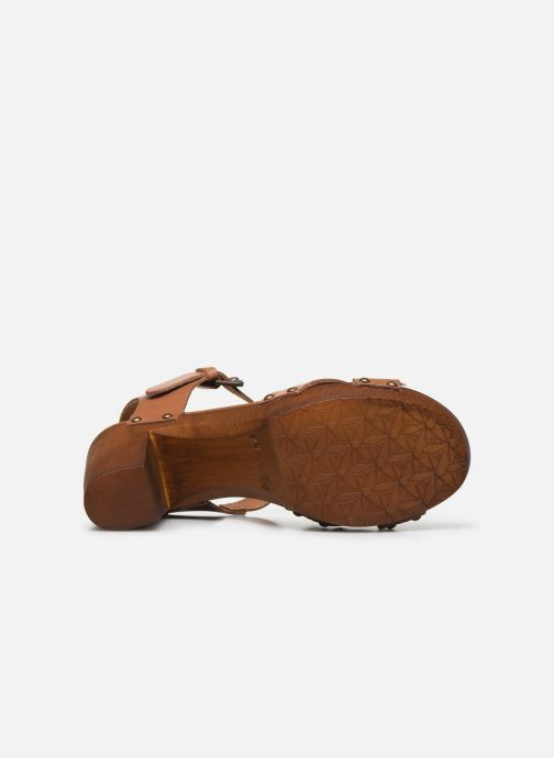 Sandales et nu-pieds Georgia Rose Dopiti Marron vue haut