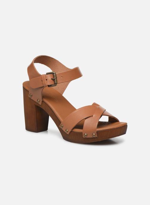 Sandales et nu-pieds Georgia Rose Dopiti Marron vue détail/paire
