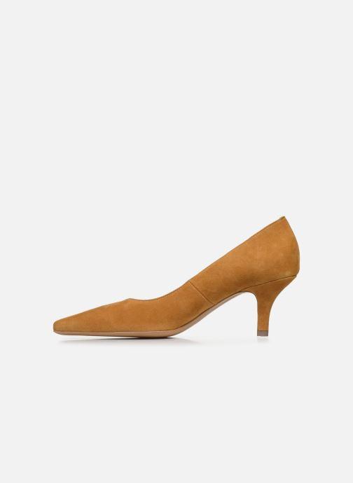 Zapatos de tacón Georgia Rose Tikito Amarillo vista de frente