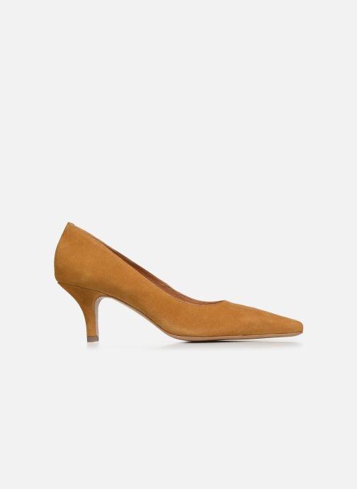 Zapatos de tacón Georgia Rose Tikito Amarillo vistra trasera