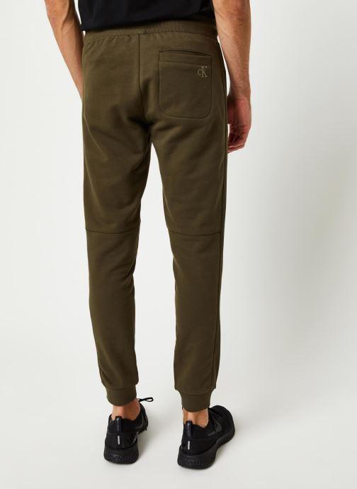 Vêtements Calvin Klein Jeans Monogram Patch Hwk Pant Vert vue portées chaussures