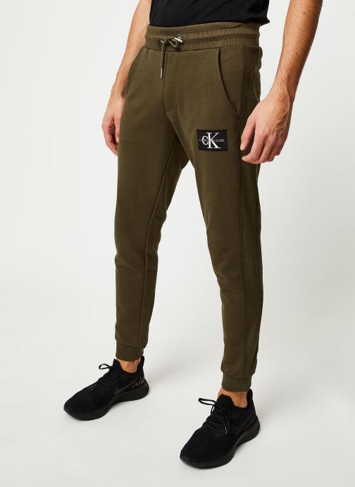 Vêtements Calvin Klein Jeans Monogram Patch Hwk Pant Vert vue détail/paire